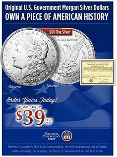 Morgan Silver Dollar |  2846+ As Seen on TV Items: http://TVStuffReviews.com/morgan-silver-dollar
