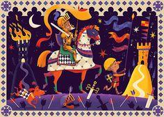 Don Quixote Puzzle on Behance