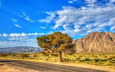 Download wallpapers Mountains, summer, Anza-Borrego, State Park, HDR, California, USA