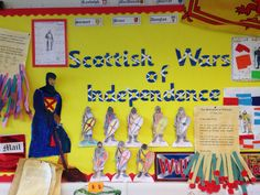 SWI main display Castles Topic, William Wallace, Primary Teaching, Classroom Displays, Woods, Scotland, Art Ideas, Battle, War