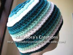 Ripple Wave Beanie - Meladora's Creations Free Crochet Patterns & Tutorials