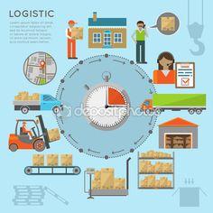 Warehouse transportation infografics — Stock Illustration #87841706