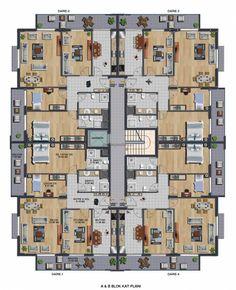 - Two bedroom apartment floor plan Residential Building Plan, Building Design Plan, Building Plans, Home Design Floor Plans, House Floor Plans, The Plan, How To Plan, Drawing House Plans, Narrow House Designs