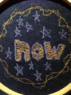 Now. Thread on denim, by Riley Wilkinson. #embroidery #sewing