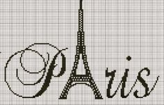 Lovely as an addition to our Paris scrapbook! Diy Embroidery, Cross Stitch Embroidery, Embroidery Patterns, Cross Stitch Charts, Cross Stitch Designs, Beading Patterns, Cross Stitch Patterns, Cross Stitch Silhouette, Filet Crochet