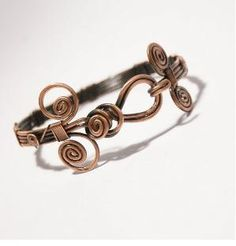 copper bangle jewelry copper wire wrapped Bracelet by BeyhanAkman, $34.00 by africanorchid