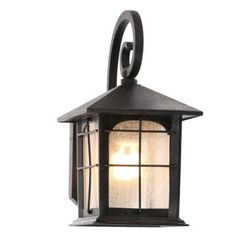 Home Depot Porch Light Fixtures . Home Depot Porch Light Fixtures . Home Decorators Collection Brimfield 1 Light Aged Iron Outdoor Wall Mounted Lighting, Wall Mounted Lamps, Garage Lighting, Outdoor Sconces, Outdoor Wall Lantern, Outdoor Wall Lighting, Outdoor Walls, Lighting Ideas, Wall Sconces
