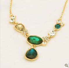 Aliexpress.com : Buy Choker Clavicle Necklace Retro Green Crystal Pendant Necklaces Jewelry Wholesale Free shipping HS C0028  from Reliable Necklace suppliers on Hopenhagen store