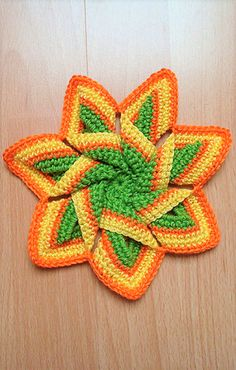 [Free Pattern] This Adorable Crochet Flower Hot Pad Is A Cheerful Addition To Any Kitchen