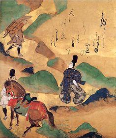 "The Tales of Ise: ""Utsu no yama""  Tawaraya Sôtatsu (Japanese, died ca. 1640)"