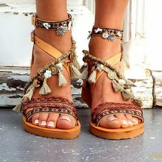 9af5c5c4d Bohemian Style Shoes Design Ideas For Girls Boho Sandals