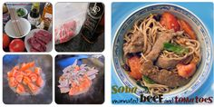 Soba with Marinated Beef and Tomatoes | The Recipe Auditors | Follow @The Recipe Auditors