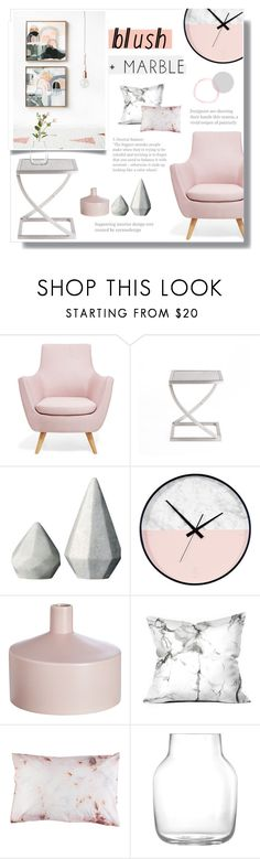 """""""Blush + Marble"""" by averymoore-15 ❤ liked on Polyvore featuring interior, interiors, interior design, home, home decor, interior decorating, Holly's House, CB2, Muuto and OKA"""