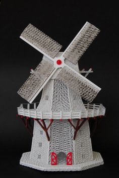 Quilled windmill by Harold Nieuwenhuis