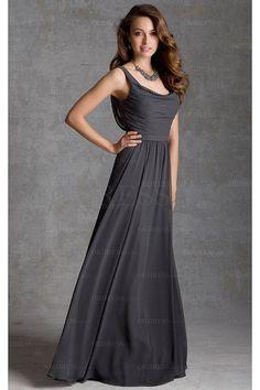 Elaborate Chiffon Natural A-line Floor-length Bridesmaid Dresses - by OKDress UK