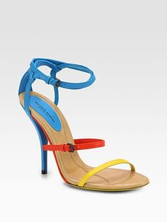 Bottega Veneta Leather Colorblock Sandals