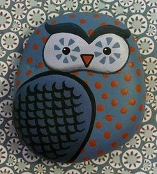 wonderful owl stones! Loads of beautiful designs... clever.