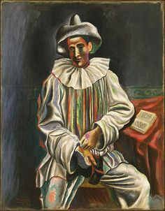 File:Pablo Picasso, 1918, Pierrot, oil on canvas, 92.7 x 73 cm, Museum of Modern Art.jpg