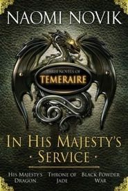 Temeraire is an historical fantasy series that follows a dragon and his aviator. Non traditional fantasy that combines actual historical events. Very good series!