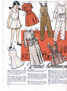 Danish paper dolls of Read Bornene #1 / dukkesiderne.dk