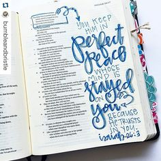 Cute blue inspiration for Bible journaling! You could use markers or pencils for this! Bible Art, My Bible, Bible Scriptures, Bible Quotes, Scripture Art, Scripture Doodle, Psalm 26, Isaiah 26, Bibel Journal