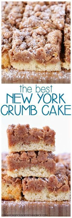 Entenmann's Copycat Crumb Cake! Everyone will ask for the recipe - it's so good! The Best New York Crumb Cake #brunchrecipe #bestcrumbcake