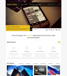 This WordPress theme for promoting apps comes with a portfolio section, an image slider, a responsive layout, custom shortcodes, social media integration, threaded comments, localization, an SEO management system, and more.