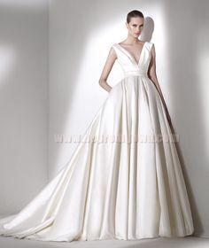 V Neck Wedding Dresses 2015 Pronovias Style CALAMIAN [Pronovias CALAMIAN]