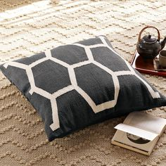 Honeycomb Floor Cushion Cover  $79.00 west elm