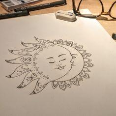 sun drawing tattoo | Tumblr