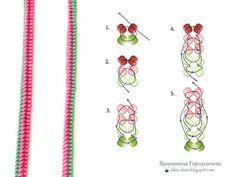 Twisted Herringbone - 2 minute video how to ~ Seed Bead Tutorials A wicker zhguta Ndebele Seed Bead Crafts, Seed Bead Jewelry, Herringbone Stitch Tutorial, Peyote Beading Patterns, Bead Crochet Rope, Beads And Wire, Beading Tutorials, Bead Art, Bead Weaving