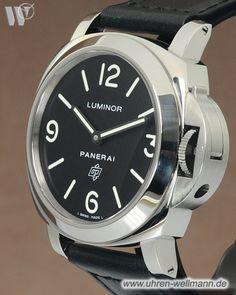 Panerai Luminor Base Logo PAM00000, Herrenuhr, Handaufzug, Stahlgehäuse