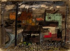From Capsule Gallery Auction, John Piper, Freshwater Isle of Wight Mixed media, 15 × 20 in John Piper Artist, Coventry Cathedral, English Artists, Isle Of Wight, Stained Glass Windows, Trout, Fresh Water, Printmaking, Artsy