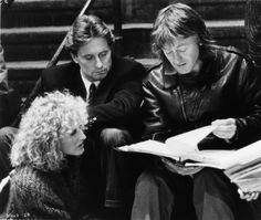 Still of Michael Douglas, Glenn Close and Adrian Lyne in Fatal Attraction