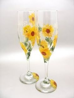 Allison! I can sooooo paint sunflowers on some glasses and paint Mr. and Mrs. on them too! ;)