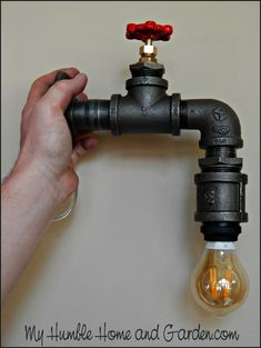 Industrial Pipe Lamp Have you seen the 'industrial pipe lamps', which seem to be one of the new trends? They have a Steampunk look, don't they? Yes, they are so unique! They also have a hefty price on them but how difficult would one of these be to make at home? And at what cost?… #LampIndustrial
