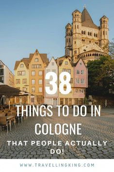 38 Things to do in Cologne – That People Actually Do! 38 Things to do in Cologne – That People Actually Do! Europe Travel Tips, Travel Guides, Places To Travel, Travel Destinations, Travelling Europe, Budget Travel, European Destination, European Travel, France Travel