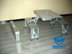 Portable aluminium profile product—— Easy carry combination aluminium alloy table and chair.