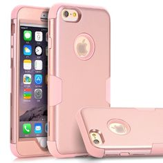 """iPhone 6 Plus Case, iPhone 6s Plus Case,TOPSKY Three Layer Heavy Duty High Impact Resistant Hybrid Protective Cover Case For iPhone 6/6s Plus (Only For 5.5""""),with Screen Protector and Stylus,Rose Gold, 2016 Amazon Hot New Releases Cases  #Wireless"""