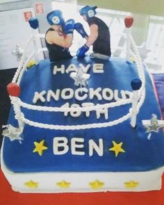 My latest boxing ring cake x