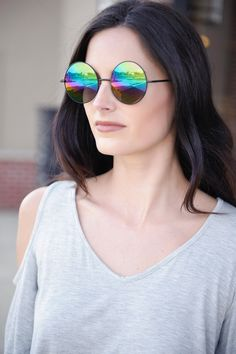 Retro Sunglasses (Black/Mirror)