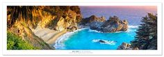 Save $7.49 on Award Winning Landscape Panoramic Art Print Poster: McWay Cove and Water Fall - Julia Pfeiffer State Park -Big...; only $17.46