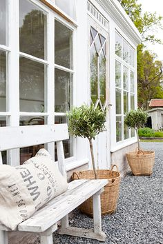 greenhouse and conservatory plants Outdoor Spaces, Outdoor Living, Outdoor Decor, Porches, Garden Inspiration, Interior And Exterior, Outdoor Gardens, Garden Design, Greenhouses
