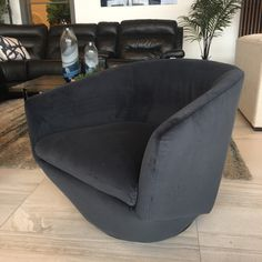 These new velvet swivel chairs are so much fun! 🤗 Who doesn't love to swivel round and round?  Only $499 each.