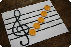3 from the DRC: Classical Conversations Cycle 1 Week 8 Memory Work - give kids individual papers and use coins for notes? Classical Education, Music Education, Cc Drawing, Cc Music, Tin Whistle, Drawn Art, Cycle 3, Music Classroom, Music Theory
