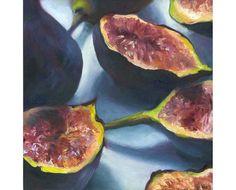 Fig 1 art print of oil painting fruit still life by JoBradney, $30.00