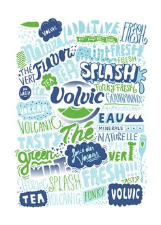 Type design for Volvic. By Grems.