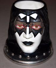 KISS Ace Frehley Head Face 2002 Ceramic Coffee Mug MIB Unused Spencers Exclusive