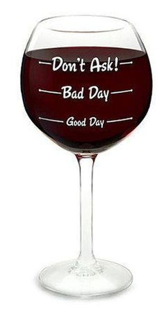 How Was Your Day Wineglass // #diy #giftidea #wine