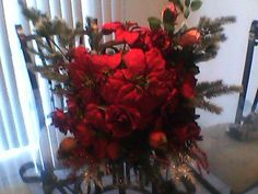 a Christmas floral